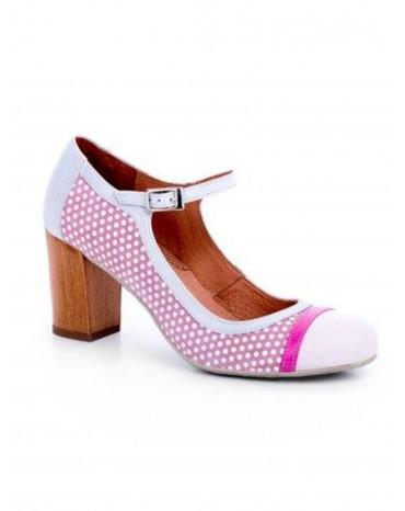 Zapatos Topos rosa tacón